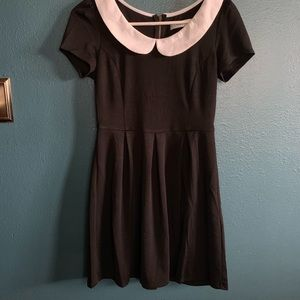 Black Dress with White Peter Pan Collar Size S